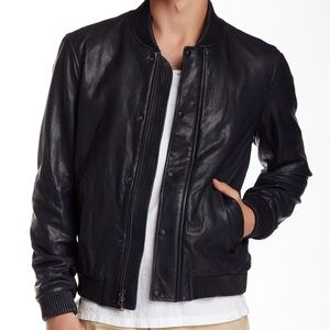 VINCE leather bomber S